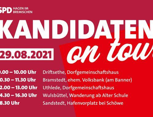 Kandidaten on Tour – Unterwegs, um ins Gespräch zu kommen.